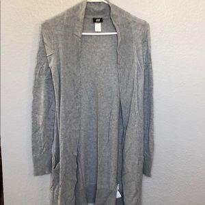 Grey long cardigan h&m
